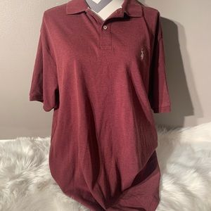 US Polo Assn Size L Burgundy Polo Short Length 32""